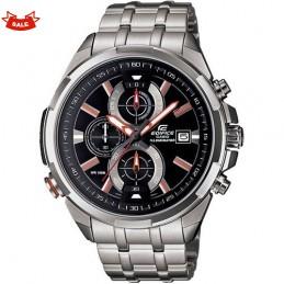 Casio Silver,White And Copper Dials, Metal Straps Watch