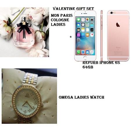 Fashion Perfume + Watch + iphone 6s