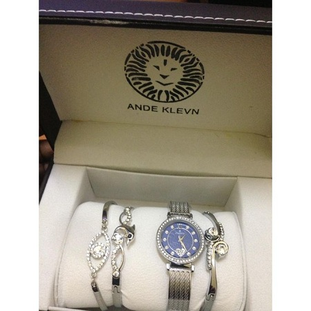 Fashion Silver Fashion gold Set watch + bracelets
