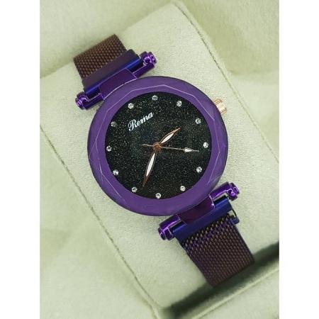 Fashion Womens Rema Blue Crystal Quartz Watches