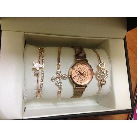 Fashion gold Set watch + bracelets