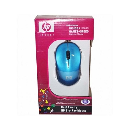 HP USB wired Optical Gaming mouse for PC/Laptop - Blue