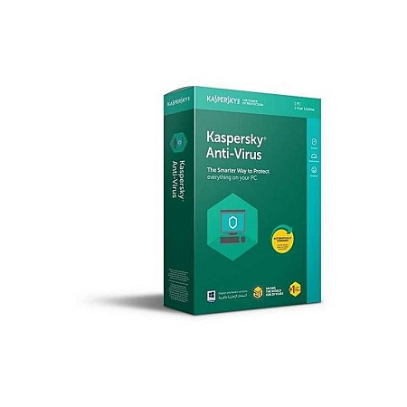 Kaspersky Anti-Virus 2019, 1+1 user