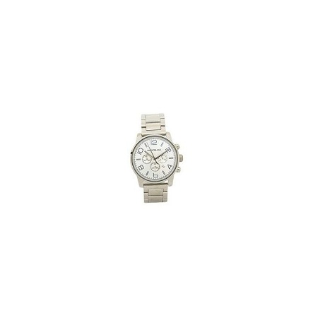 Mont Blanc Silver White Dial Stainless Steel Strap Watch