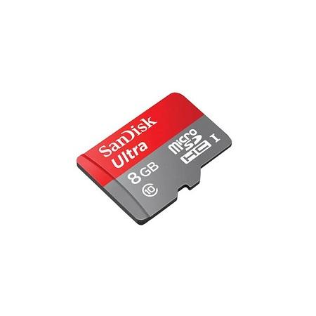Sandisk 8GB Ultra UHS-I microSDHC Memory Card (Class 10)