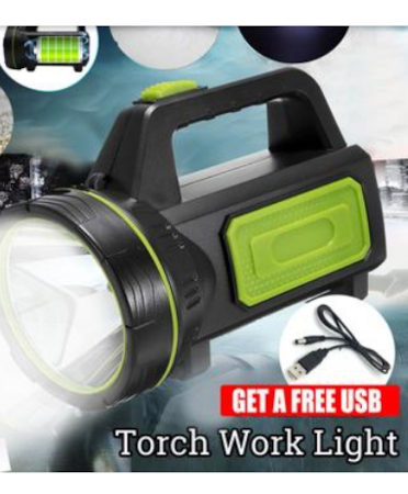 Torch Lamp Super Bright Handheld Search Light USB Rechargeable