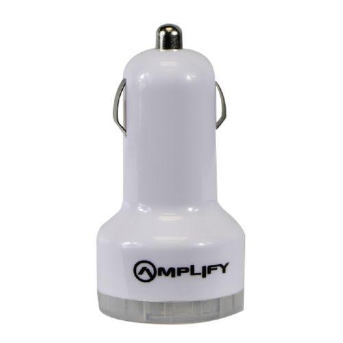Amplify Joy Ryder: White Dual USB Car Charger