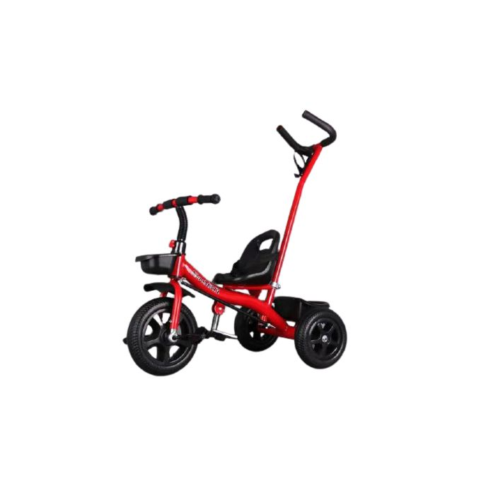 Sporty Kids Tri-cycle With Toy Basket & Bottle Holder- Red