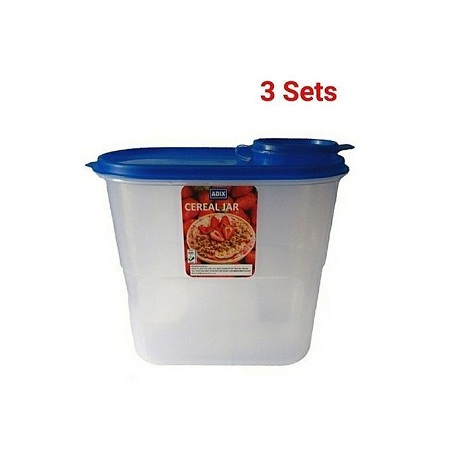 3 piece cereal,flour container 2 litres