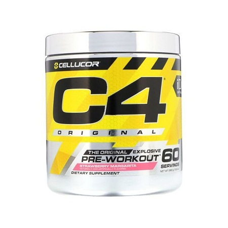 Cellucor C4 Pre Workout Powder Energy Drink w/ Creatine, Nitric Oxide & Beta Alanine, strawberry margarita- 60 Servings.