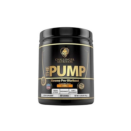 Challenger NUTRITION - THE PUMP Xtreme Pre-Workout (Orange) - 30 Servings. Great Tasting, Boosts Energy, Increases Endurance