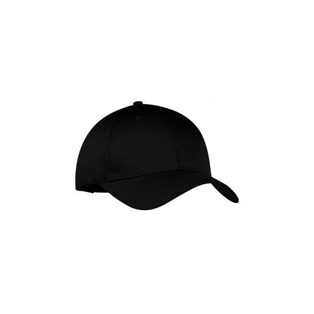 Fashion Plain Black Baseball Hat - Black