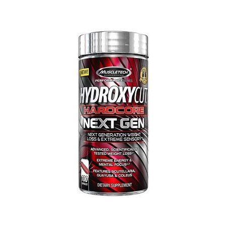 Hydroxycut Hardcore Next Gen For Weight Loss - 100 Capsules