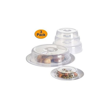Set of 3 Ventilated Microwave Plate Covers – Microwave Food Covers.