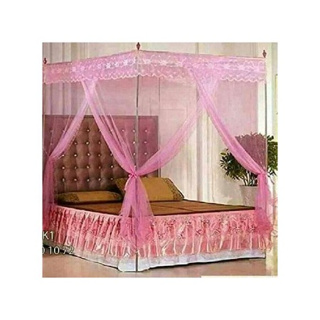 Mosquito Net with Metallic Stand 6 by 6 - Pink