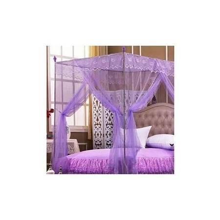 Mosquito Net with Metallic Stand 5 by 6 - Purple