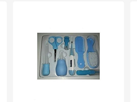 10-Piece Baby Care Grooming Kit - My First Baby Care Set - Blue