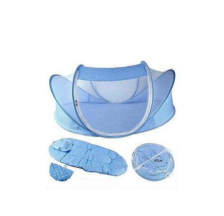 Baby nest/Sleeping Nest/ Mosquito Net/ Baby Crib- Blue