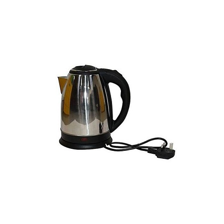 Lyons Silver & Black Cordless Stainless Steel Electric Kettle - 1.8L