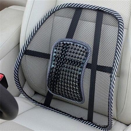 Summer Lumbar Lower Back Car Seat Support Lumber Cushion Pain Relief Office Chair Mesh Back Cushion Multifunction