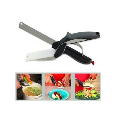 2-in-1- Clever cutter + FREE Vegetable Grater/Slicer/peeler
