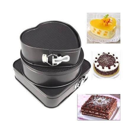 3pcs Non Stick Cake Tray