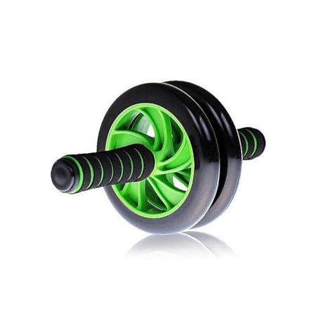 AB Wheel Double Wheel Fitness Abs Roller With FREE Mat Green