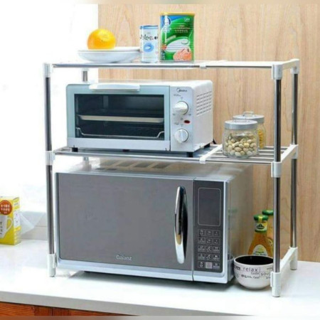 Adjustable Microwave Organizer / Stand-Quite Elegant