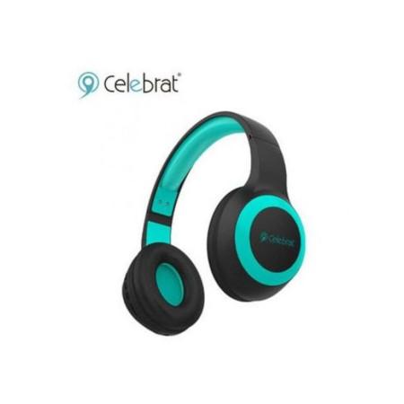 Celebrat A23 Wireless Bluetooth Headphones Black/Blue