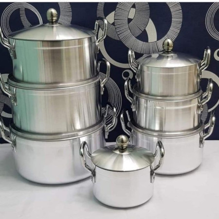 Cookware 7 Pieces Aluminum Heavy Duty With Lid