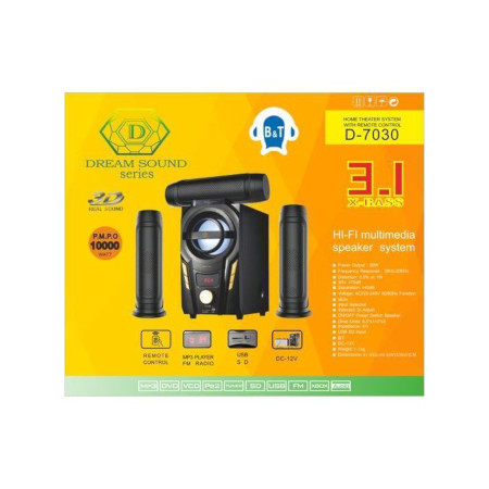 Dream Sound Series D-7030 3.1CH Speaker System 60W