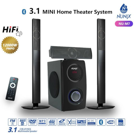Nunix 3.1CH Home Theater Speaker System