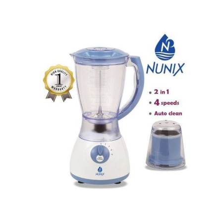Nunix AK 300 2 In 1 Blender With Grinding Machine 1.5L New Model