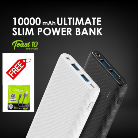 Oraimo Powerbank 10000mAh+FREE 2A Fast Charging Cable