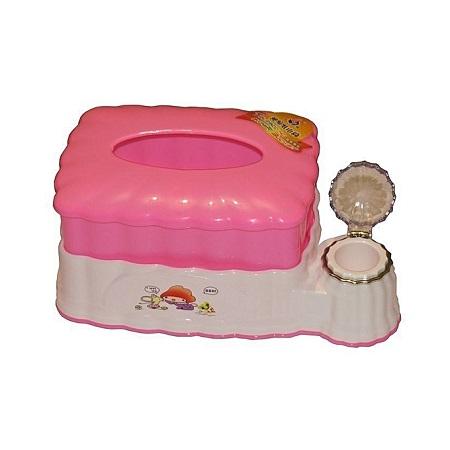 2-in-1 Serviette & Toothpick Holder - Pink
