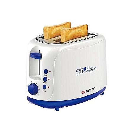 ELEKTA Two Slice Bread Toaster - White