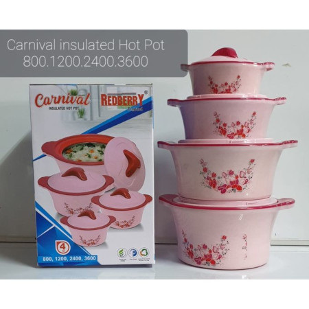 Redberry Insulated Hot Pot - 4 Pieces