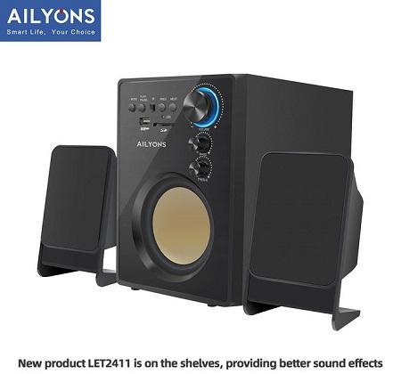 AILYONS ELP-2411 Clear 3D Acoustic Multimedia Speaker Subwoofer