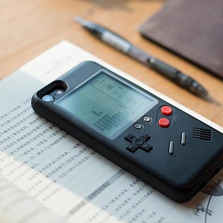 Apple iPhone 8 Mobile Retro Brick Game Phone Case TPU - Black