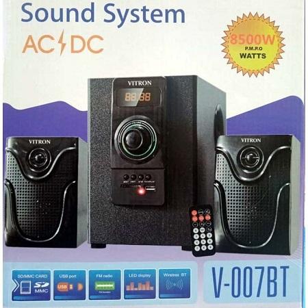 Vitron 007bt- Bluetooth,FM,SB/USB 8500-Watts