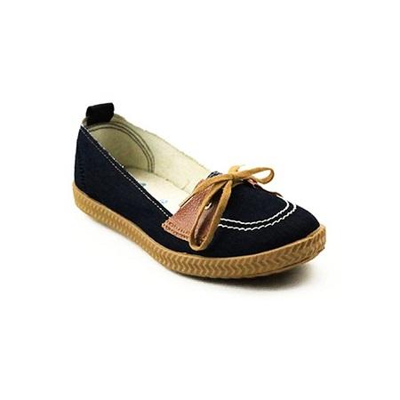 UMOJA Love Denim Black ladies outdoor Canvas shoes