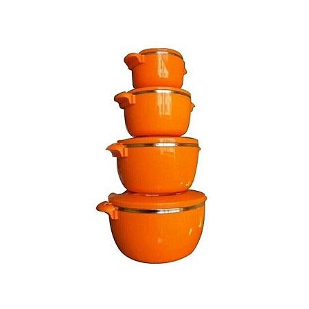 Upendo 4pc HotPot/Seving Dishes Set - Orange