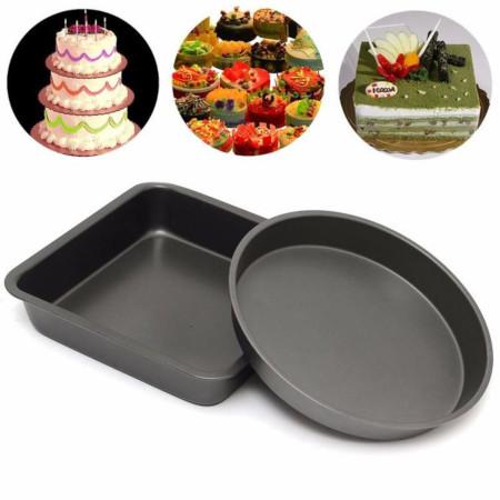 5PCS 8'' Round Shape Non-Stick Quality Cake Baking Tin Tray