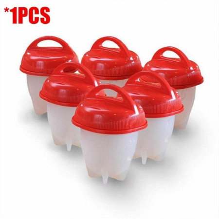 6pcs/set Silicone Egg Boil Cup Cooker