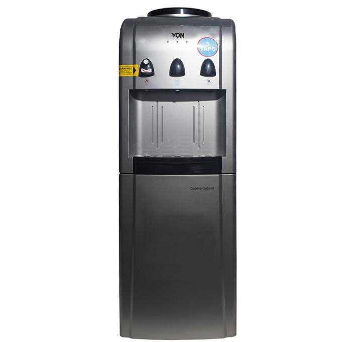 Von VADV2322S Water Dispenser Compressor Cooling, with Fridge - Silver