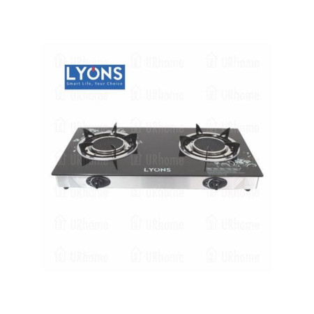 Lyons GS005- 2 Burner - Glass top and infrared double burner - Black