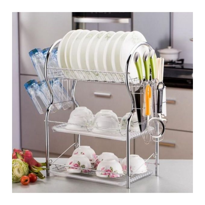 Stainless Steel 3-layer Dish Rack