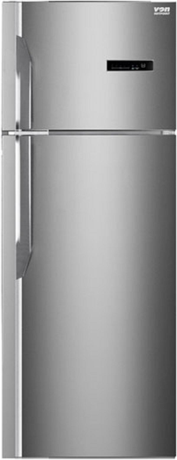 VON HRN-412S/VART-41NGK Double Door Fridge, Top Mount Freezer 331L  Silver