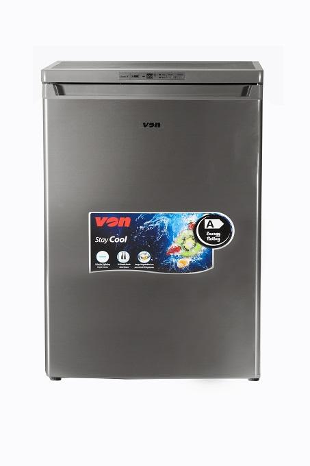 Von VAFM-14DHS Upright Freezer, 92L - Silver