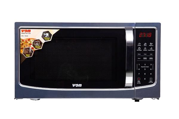 VON VAMS-38DGX Microwave Oven, Solo, 38L, Digital – Stainless Steel